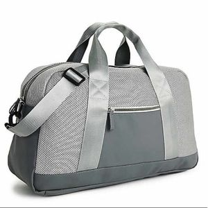 NWT Silver Gym Duffle Bag